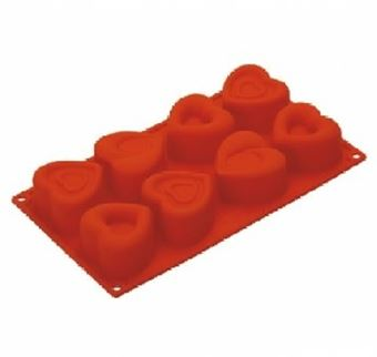 Picture of PAVONI  MIXED HEARTS SILICONE MOULD
