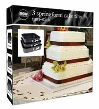 Picture of 3PC SQUARE S/ FORM CAKE TINS 28,26,24CM