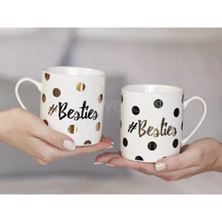 Picture of AVA & I SET OF 2 CAN MUGS BESTIES, GIFT BOX