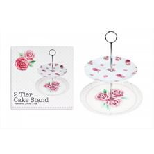 Picture of 2 TIER AFTERNOON TEA CAKE STAND COUPE SHAPE