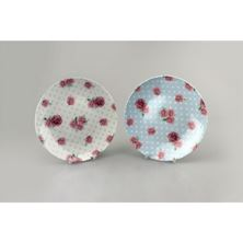 Picture of AFTERNOON TEA COUPE SHAPE PLATE 18CM 2 DESIGNS