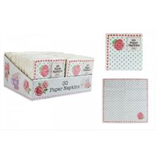 Picture of PACK OF 30 AFTERNOON TEA STYLE 2 PLY PAPER NAPKINS