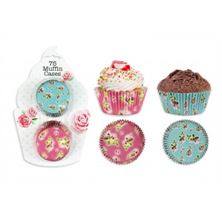 Picture of AFTERNOON TEA STYLE PAPER MUFFIN CASES 75 PACK