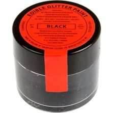 Picture of SUGARFLAIR EDIBLE BLACK GLITTER PAINT 20G