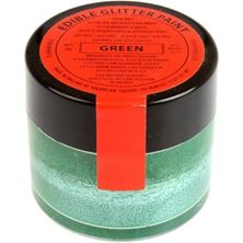 Picture of SUGARFLAIR EDIBLE GREEN GLITTER PAINT 20G