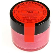 Picture of SUGARFLAIR EDIBLE PINK GLITTER PAINT 20G
