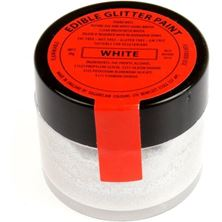 Picture of SUGARFLAIR EDIBLE WHITE GLITTER PAINT 20G
