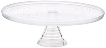 Picture of ENTERTAIN GLASS FOOTED CAKE STAND 32CM