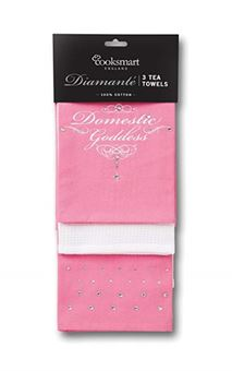 Picture of DIAMANTE 3 PACK TEA TOWEL