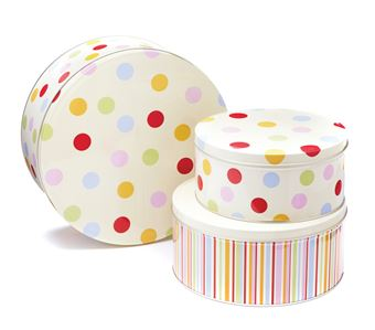 Picture of SPOTS SET OF 3 ROUND CAKE TINS