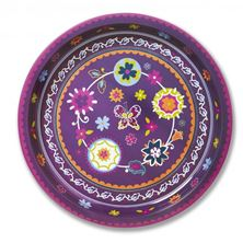 Picture of SUZANI ROUND TIN TRAY