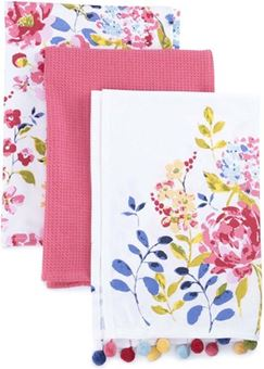 Picture of FLORAL ROMANCE 3 PACK TEA TOWELS