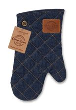 Picture of SINGLE OVEN GLOVE OXFORD DENIM