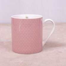 Picture of KATIE ALICE COTTAGE FLOWER CAN MUG PINK SPOTS, SWING TAG