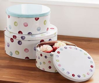 Picture of SET OF 3 ROUND CAKE TINS SPOTTY DOTTY