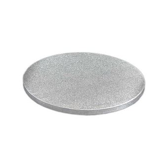 Picture of 6 INCH ROUND SILVER FOIL COVERED CAKE DRUMS BOARD