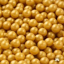 Picture of GOLD SUGAR PEARLS 8MM X 1 GRAM MINIMUM ORDER 50G