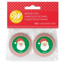 Picture of CHRISTMAS MINI SANTA BAKING CUPS 100 PCS