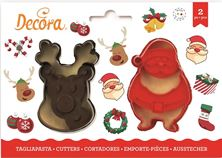 Picture of SANTA CLAUS & REINDEER COOKIE CUTTERS   8/7 X2.2 CM